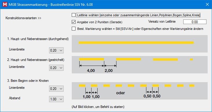 Busstreifenlinie SSV Nr. 6.08