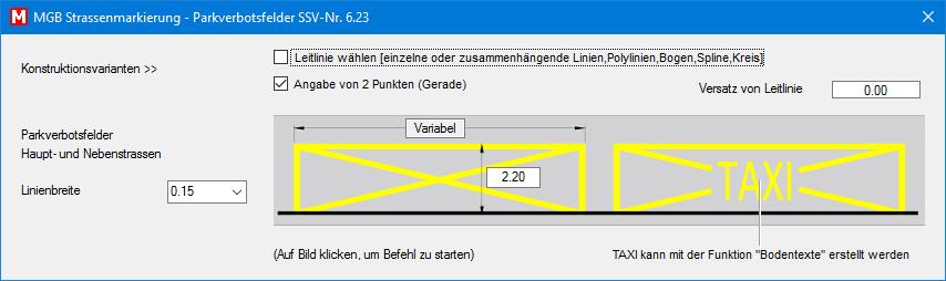 Ausgeweiterter Radstreifen SSV Nr. 6.26